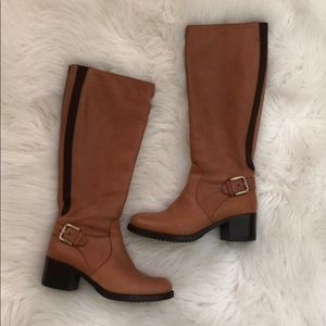 Beautiful Camel colored knee high leather boots 36